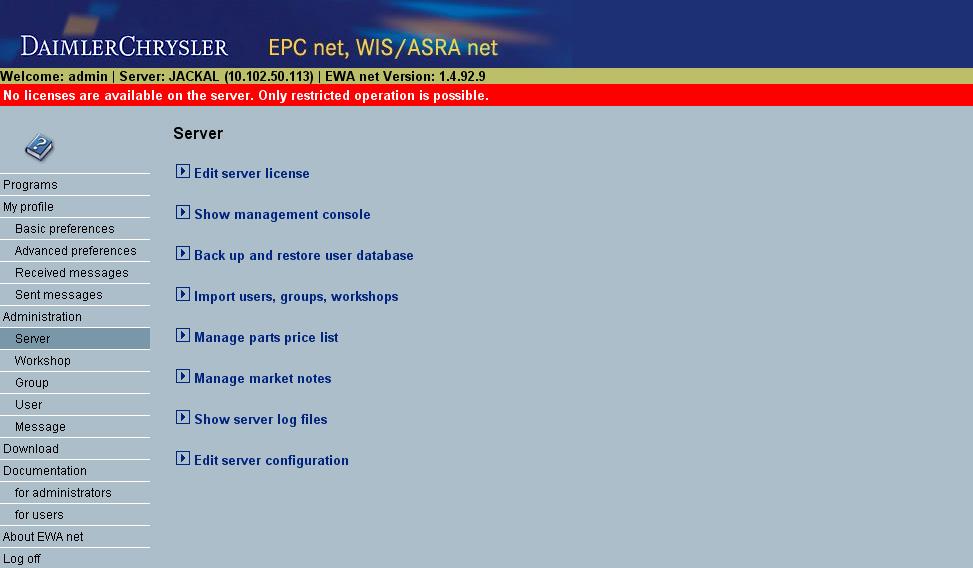 Installation Instructions for Mercedes-Benz EWAnet